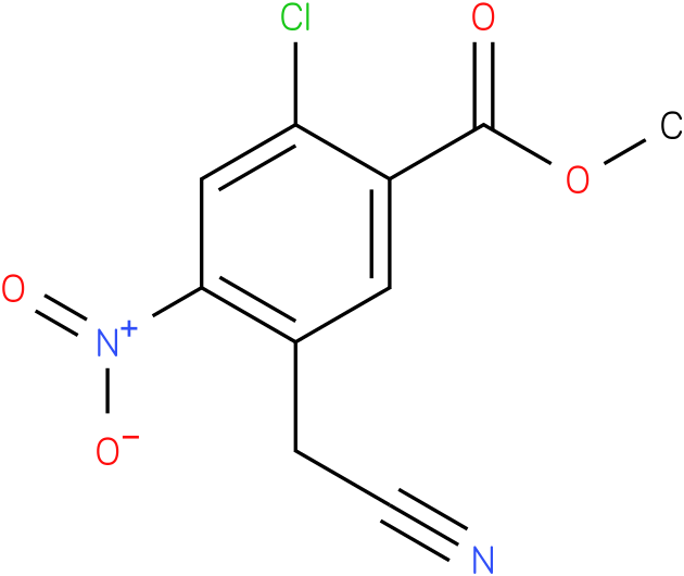 methyl 2-chloro-5-(cyanomethyl)-4-nitrobenzoate