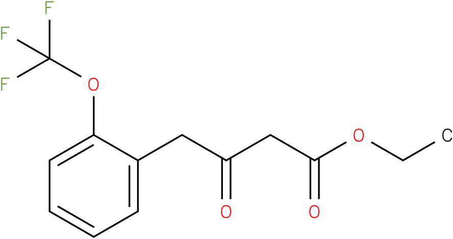 ethyl 3-oxo-4-(2-(trifluoromethoxy)phenyl)butanoate