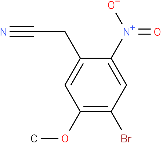 2-(4-bromo-5-methoxy-2-nitrophenyl)acetonitrile