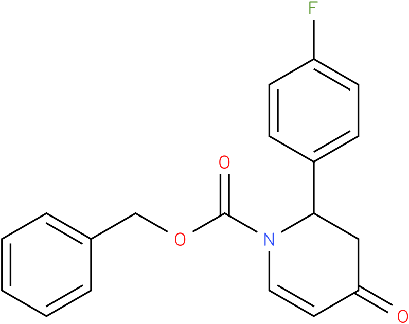 benzyl 2-(4-fluorophenyl)-3,4-dihydro-4-oxopyridine-1(2H)-carboxylate