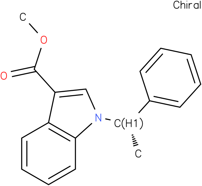 methyl 1-((S)-1-phenylethyl)-1H-indole-3-carboxylate
