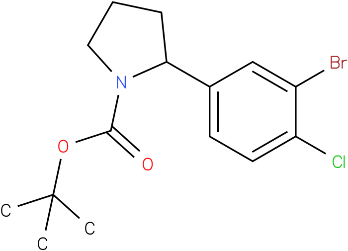 tert-butyl 2-(3-bromo-4-chlorophenyl)pyrrolidine-1-carboxylate