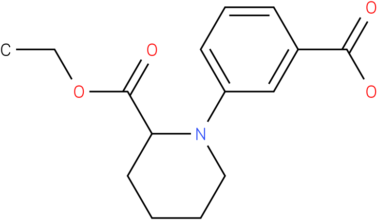 1-(3-carboxy-phenyl)-piperidine-2-carboxylic acid ethyl ester