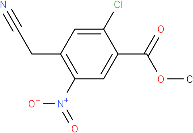 methyl 2-chloro-4-(cyanomethyl)-5-nitrobenzoate