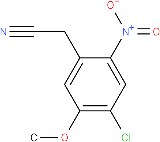 2-(4-chloro-5-methoxy-2-nitrophenyl)acetonitrile