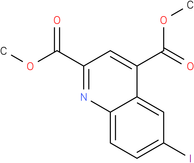 dimethyl 6-iodoquinoline-2,4-dicarboxylate