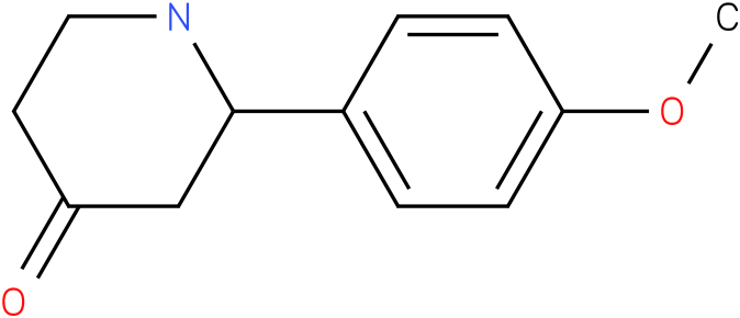 2-(4-methoxyphenyl)piperidin-4-one