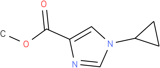 methyl 1-cyclopropyl-1H-imidazole-4-carboxylate