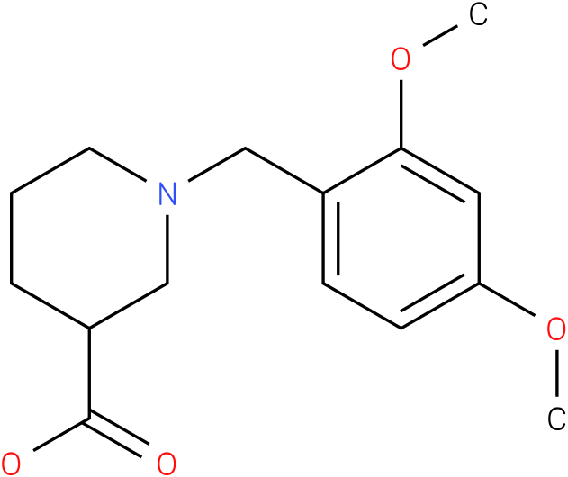 1-(2,4-dimethoxybenzyl)piperidine-3-carboxylic acid