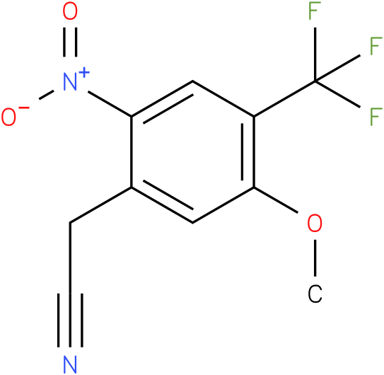 2-(4-(trifluoromethyl)-5-methoxy-2-nitrophenyl)acetonitrile
