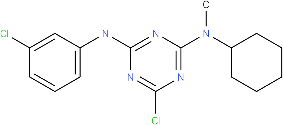6-Chloro-N-(3-chloro-phenyl)-N'-cyclohexyl-N'-methyl-[1,3,5]triazine-2,4-diamine