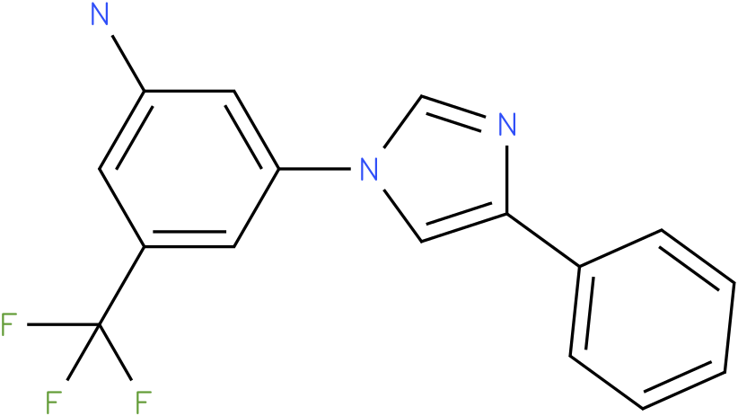 3-(4-Phenyl-imidazol-1-yl)-5-trifluoromethyl-phenylamine