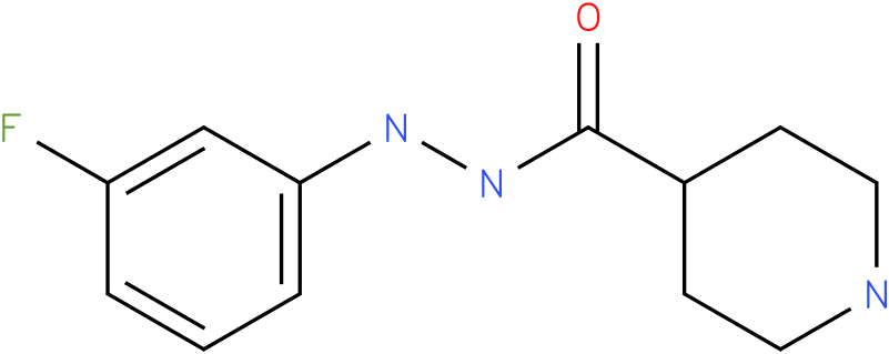 Piperidine-4-carboxylic acid N'-(3-fluoro-phenyl)-hydrazide