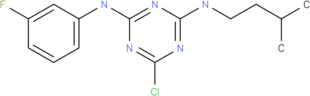 6-Chloro-N-(3-fluoro-phenyl)-N'-(3-methyl-butyl)-[1,3,5]triazine-2,4-diamine