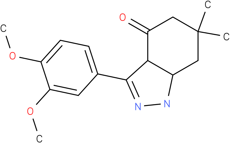 3-(3,4-Dimethoxy-phenyl)-6,6-dimethyl-1,3a,5,6,7,7a-hexahydro-indazol-4-one