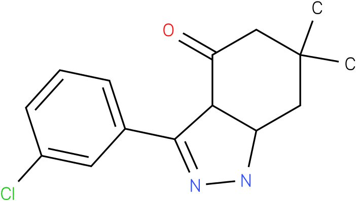 3-(3-Chloro-phenyl)-6,6-dimethyl-1,3a,5,6,7,7a-hexahydro-indazol-4-one