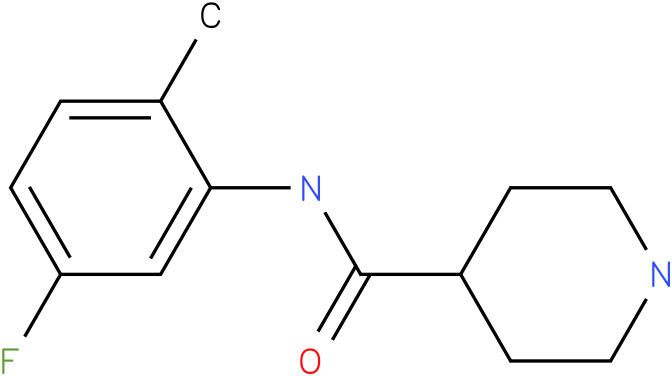 Piperidine-4-carboxylic acid (5-fluoro-2-methyl-phenyl)-amide