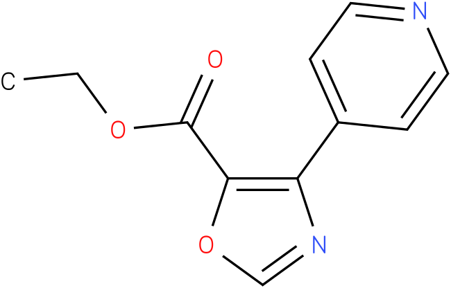 ETHYL 4-(PYRIDIN-4-YL)OXAZOLE-5-CARBOXYLATE
