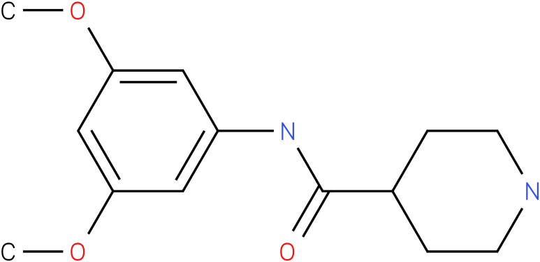 Piperidine-4-carboxylic acid (3,5-dimethoxy-phenyl)-amide