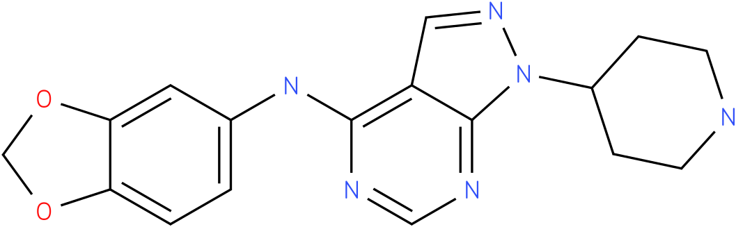 Benzo[1,3]dioxol-5-yl-(1-piperidin-4-yl-1H-pyrazolo[3,4-d]pyrimidin-4-yl)-amine
