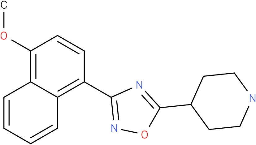 4-[3-(4-Methoxy-naphthalen-1-yl)-[1,2,4]oxadiazol-5-yl]-piperidine