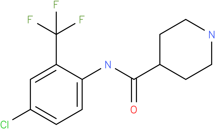 Piperidine-4-carboxylic acid (4-chloro-2-trifluoromethyl-phenyl)-amide