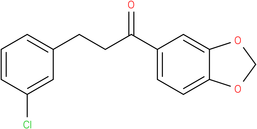1-Benzo[1,3]dioxol-5-yl-3-(3-chloro-phenyl)-propan-1-one