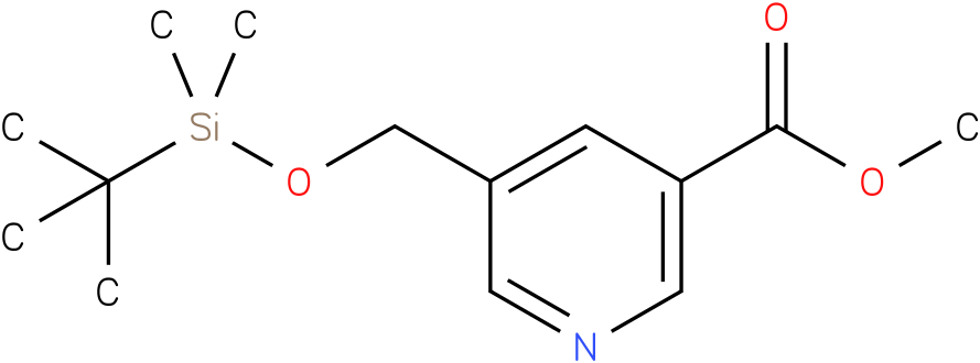 methyl 5-((tert-butyldimethylsilyloxy)methyl)nicotinate