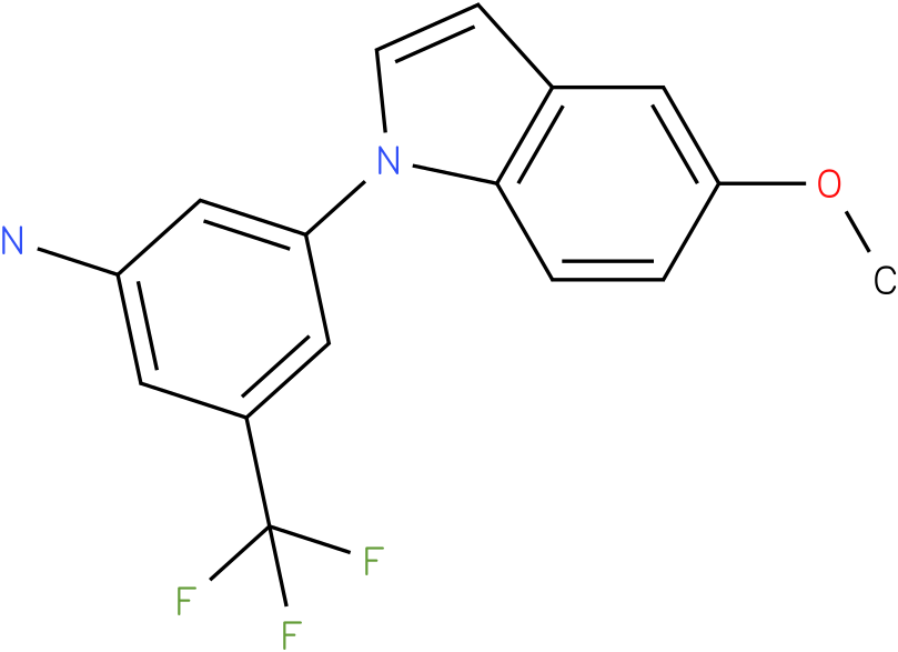 3-(5-Methoxy-indol-1-yl)-5-trifluoromethyl-phenylamine