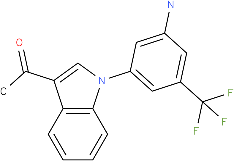 1-[1-(3-Amino-5-trifluoromethyl-phenyl)-1H-indol-3-yl]-ethanone