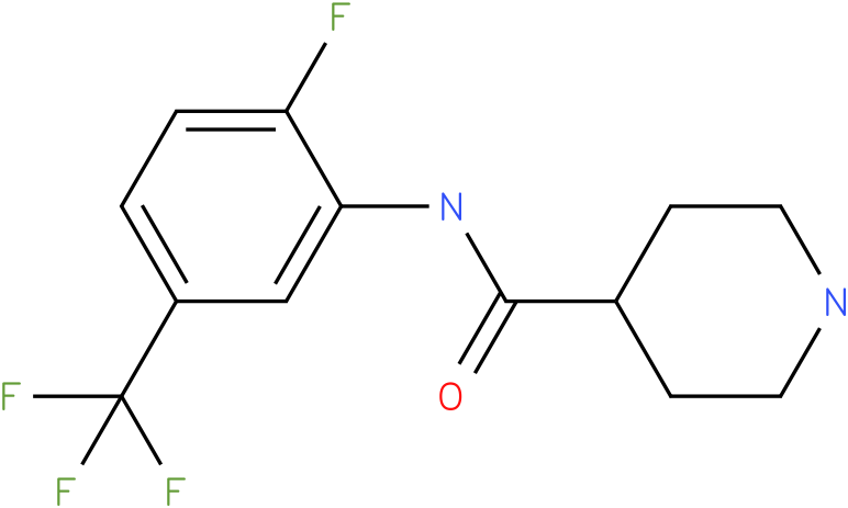 Piperidine-4-carboxylic acid (2-fluoro-5-trifluoromethyl-phenyl)-amide