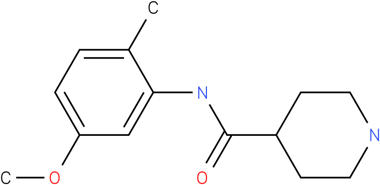 Piperidine-4-carboxylic acid (5-methoxy-2-methyl-phenyl)-amide