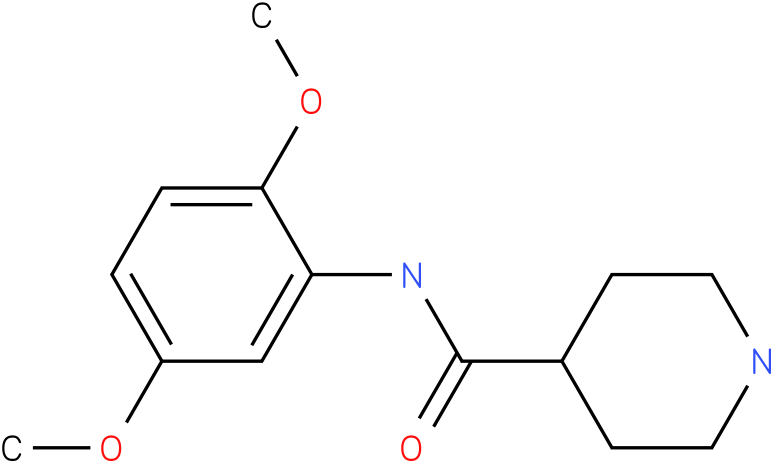 Piperidine-4-carboxylic acid (2,5-dimethoxy-phenyl)-amide