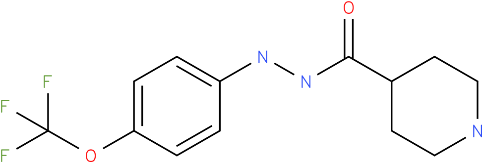 Piperidine-4-carboxylic acid N'-(4-trifluoromethoxy-phenyl)-hydrazide
