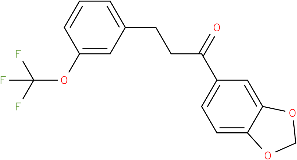 1-Benzo[1,3]dioxol-5-yl-3-(3-trifluoromethoxy-phenyl)-propan-1-one
