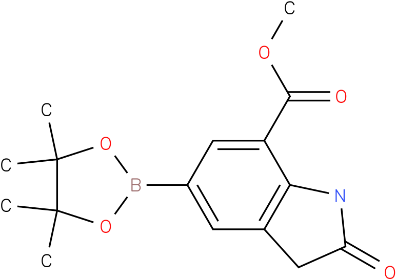methyl 2-oxo-5-(4,4,5,5-tetramethyl-1,3,2-dioxaborolan-2-yl)indoline-7-carboxylate