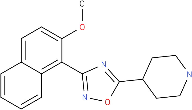 4-[3-(2-Methoxy-naphthalen-1-yl)-[1,2,4]oxadiazol-5-yl]-piperidine