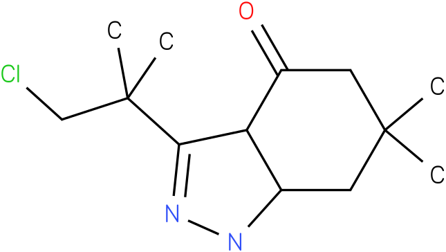 3-(2-Chloro-1,1-dimethyl-ethyl)-6,6-dimethyl-1,3a,5,6,7,7a-hexahydro-indazol-4-one