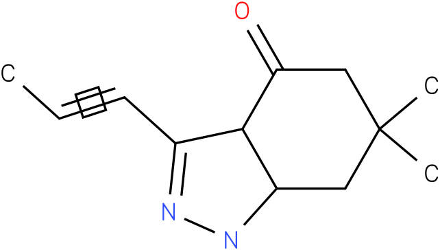 6,6-Dimethyl-3-propenyl-1,3a,5,6,7,7a-hexahydro-indazol-4-one