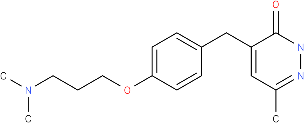 4-[4-(3-Dimethylamino-propoxy)-benzyl]-6-methyl-2H-pyridazin-3-one