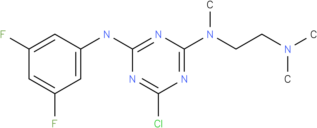 6-Chloro-N-(3,5-difluoro-phenyl)-N'-(2-dimethylamino-ethyl)-N'-methyl-[1,3,5]triazine-2,4-diamine