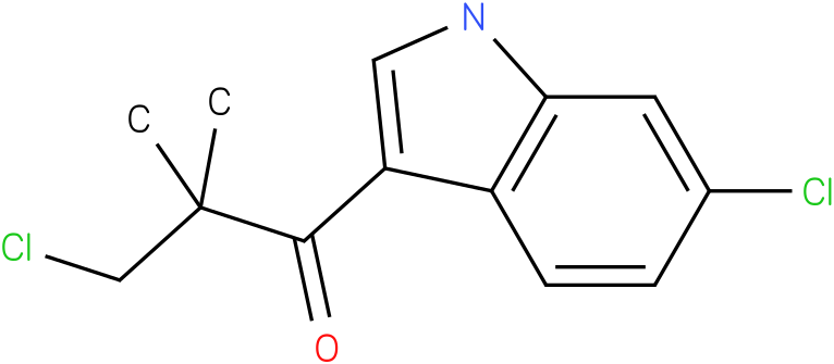 3-Chloro-1-(6-chloro-1H-indol-3-yl)-2,2-dimethyl-propan-1-one