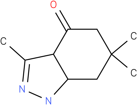 3,6,6-Trimethyl-1,3a,5,6,7,7a-hexahydro-indazol-4-one