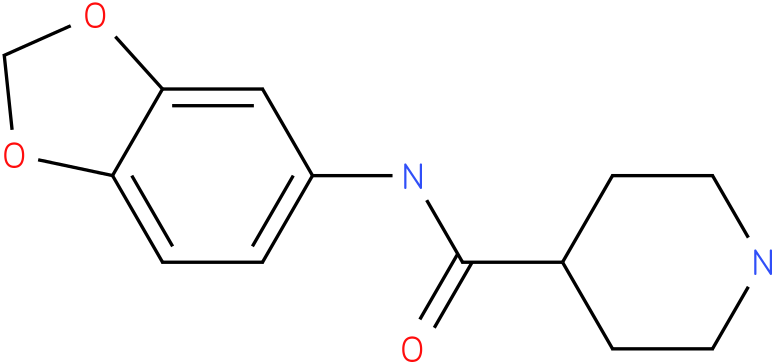 Piperidine-4-carboxylic acid benzo[1,3]dioxol-5-ylamide