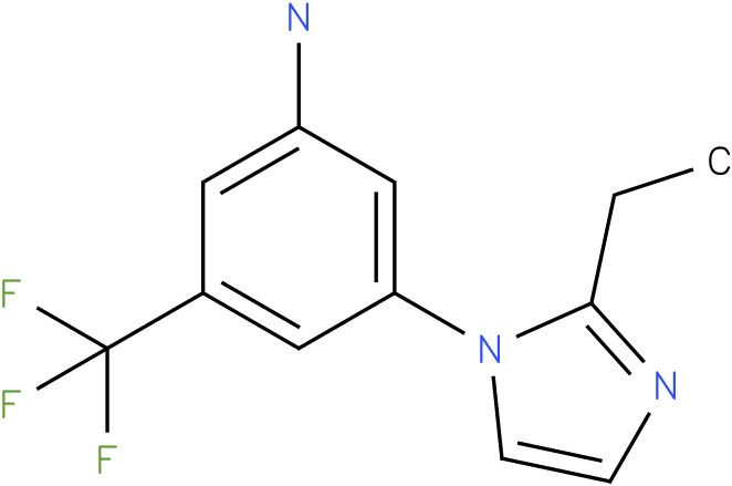 3-(2-Ethyl-imidazol-1-yl)-5-trifluoromethyl-phenylamine