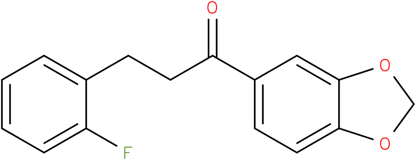 1-Benzo[1,3]dioxol-5-yl-3-(2-fluoro-phenyl)-propan-1-one