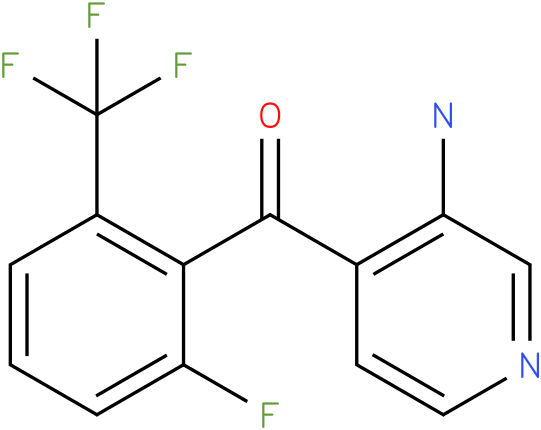 (3-Amino-pyridin-4-yl)-(2-fluoro-6-trifluoromethyl-phenyl)-methanone