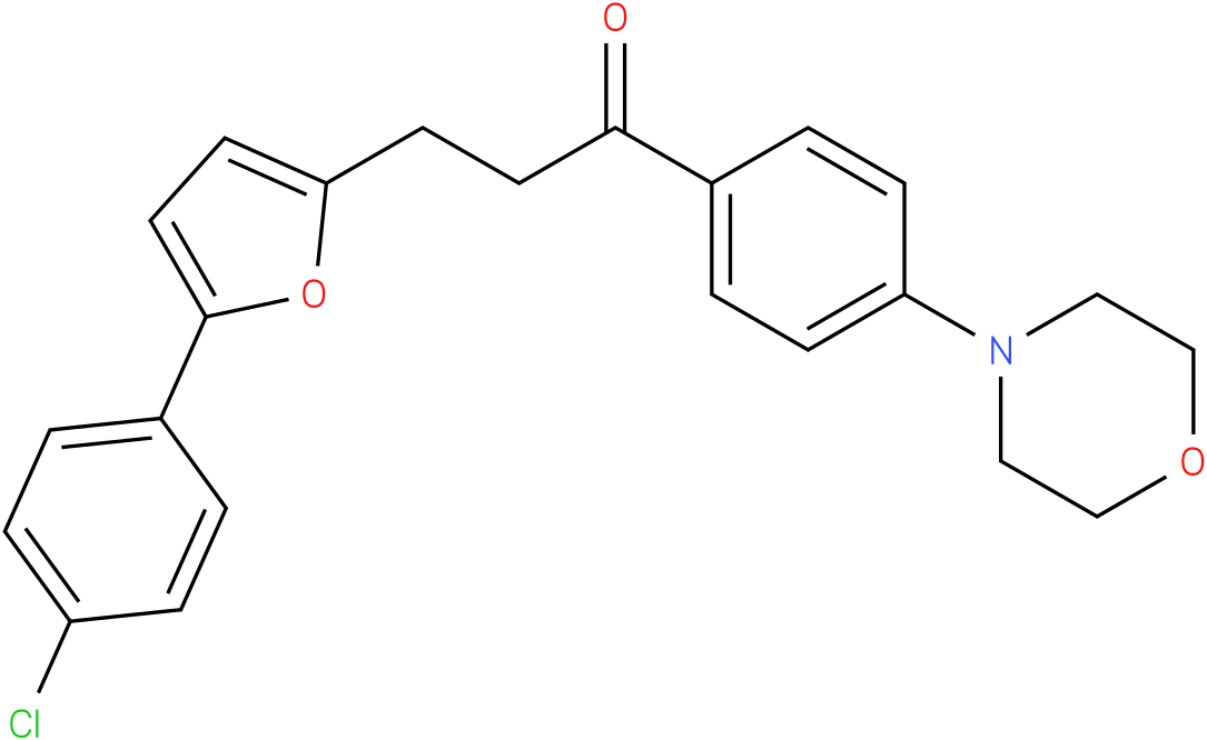 3-[5-(4-Chloro-phenyl)-furan-2-yl]-1-(4-morpholin-4-yl-phenyl)-propan-1-one
