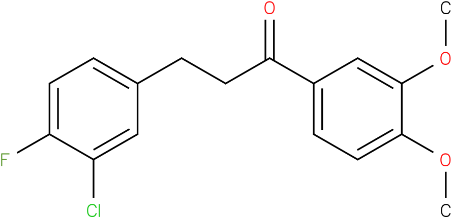 3-(3-Chloro-4-fluoro-phenyl)-1-(3,4-dimethoxy-phenyl)-propan-1-one