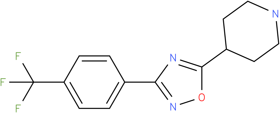 4-[3-(4-Trifluoromethyl-phenyl)-[1,2,4]oxadiazol-5-yl]-piperidine